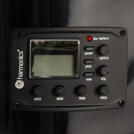 Violão Eletroacústico Nylon GE-20 Preto HARMONICS