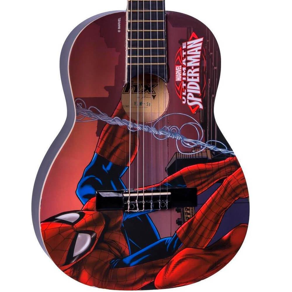 Violão Infantil Acústico Phx VIM-S1 Marvel Spider-Man Nylon