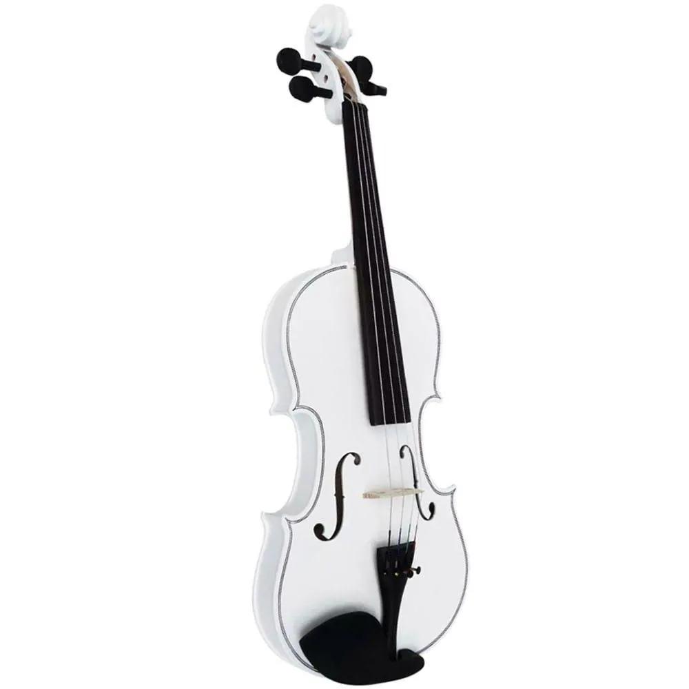 Violino Clássico Acoustic VDM44 4/4 Branco com Case