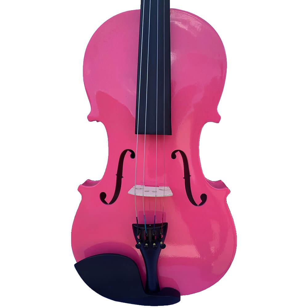 Violino Jahnke JVI001 4/4 Rosa Glitter com Case