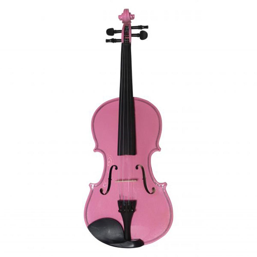Violino Jahnke JVI001 4/4 Rosa Verniz Brilho com Case