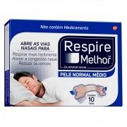 Dilatador Nasal Respire Melhor Pele Normal Leve 30 Pague 20 Tiras medio