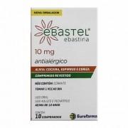 Ebastel 10mg 10 Comprimidos Eurofarma