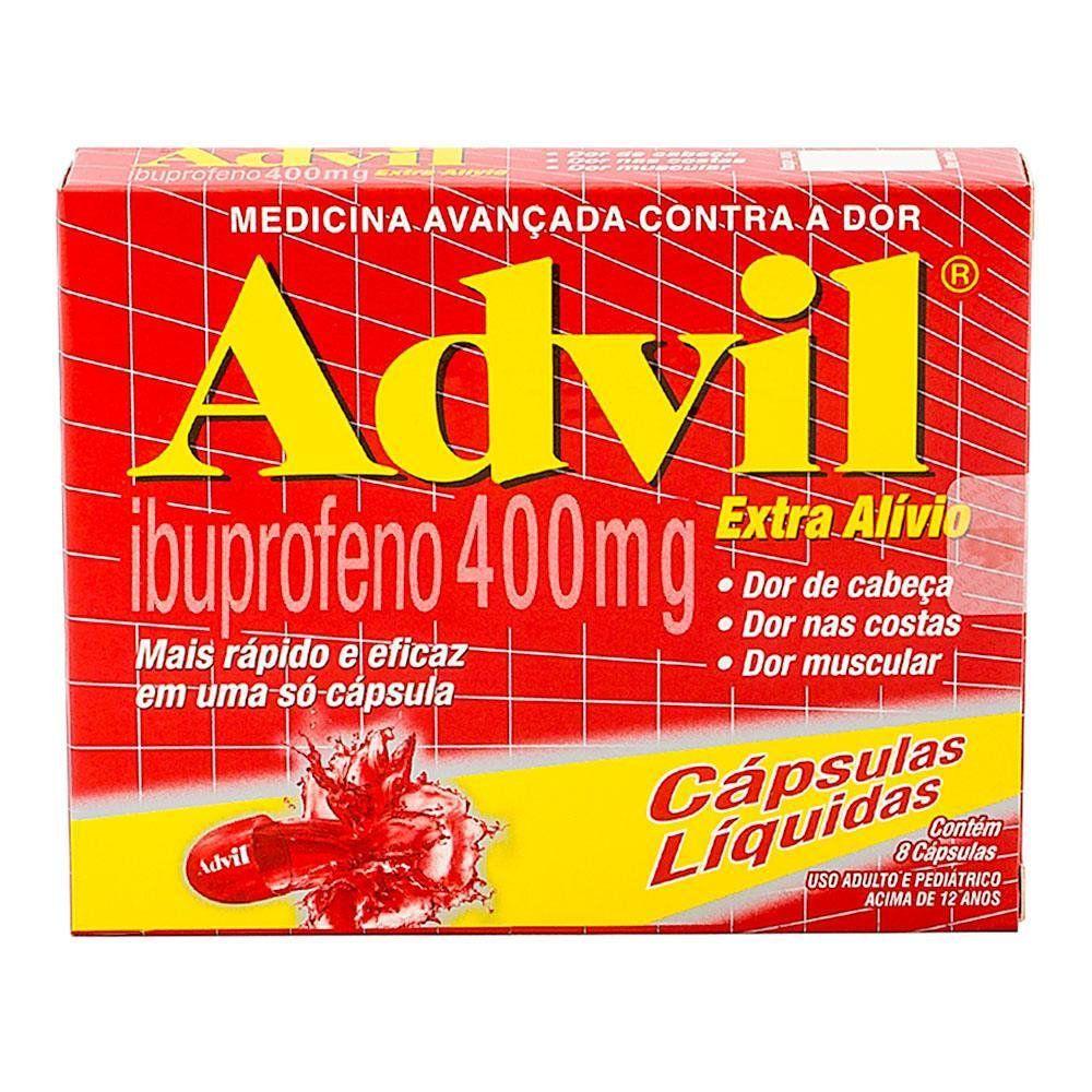 Advil Extra Alivio 400mg 8 Cápsulas Gelatinosas