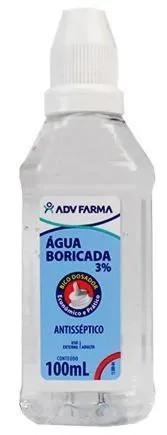 Água Boricada 100ml Adv
