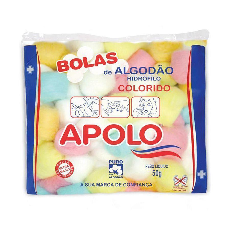 Algodão Apolo 50g Bolas Coloridas