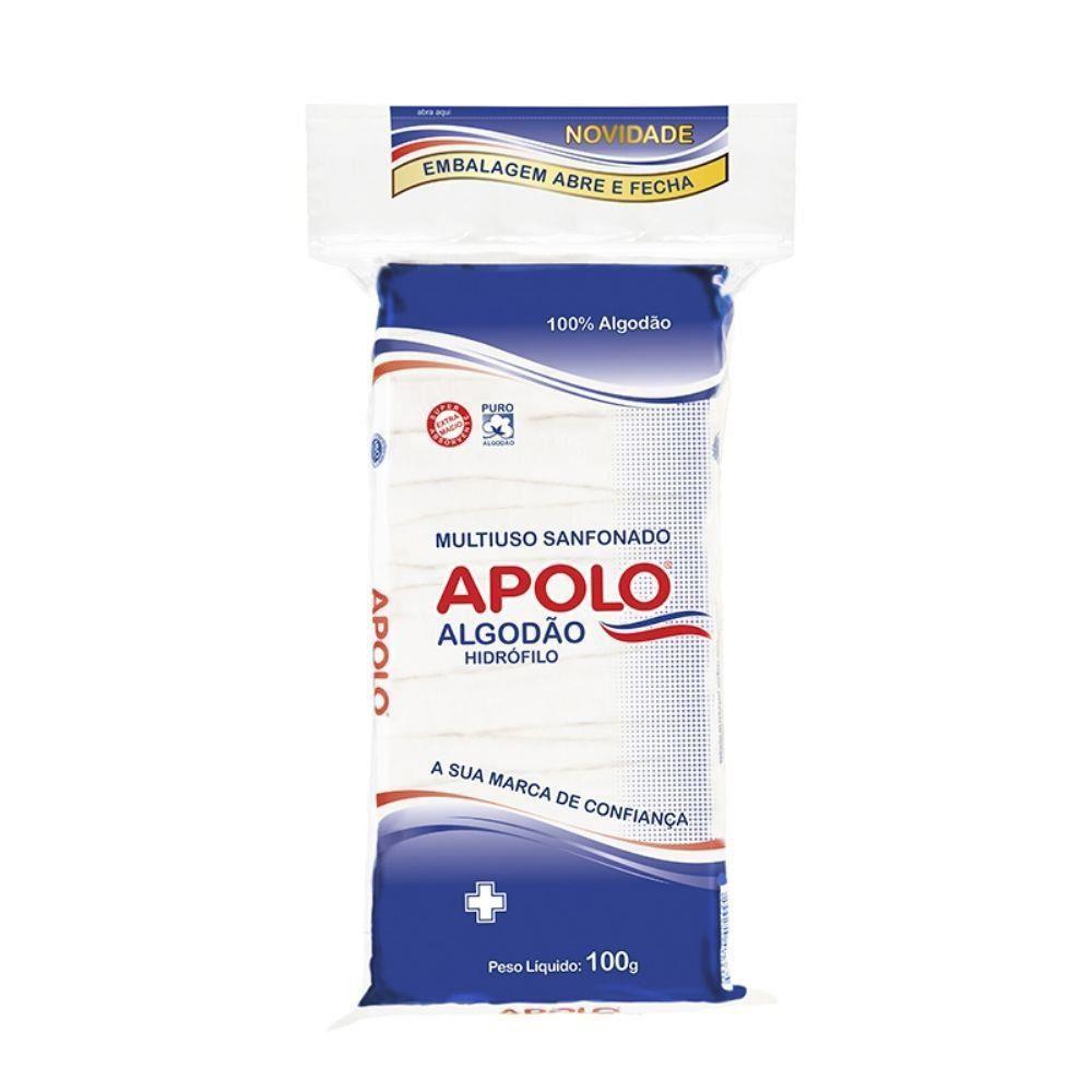 Algodão Hidrófilo Apolo 100g Multiuso