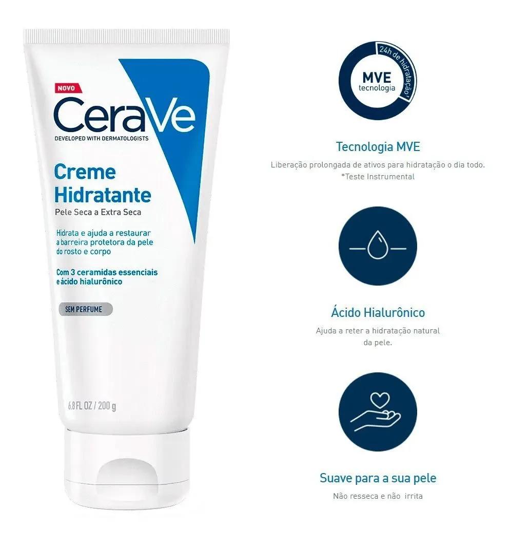 CeraVe Creme Hidratante Pele Seca a Extra Seca 200 g