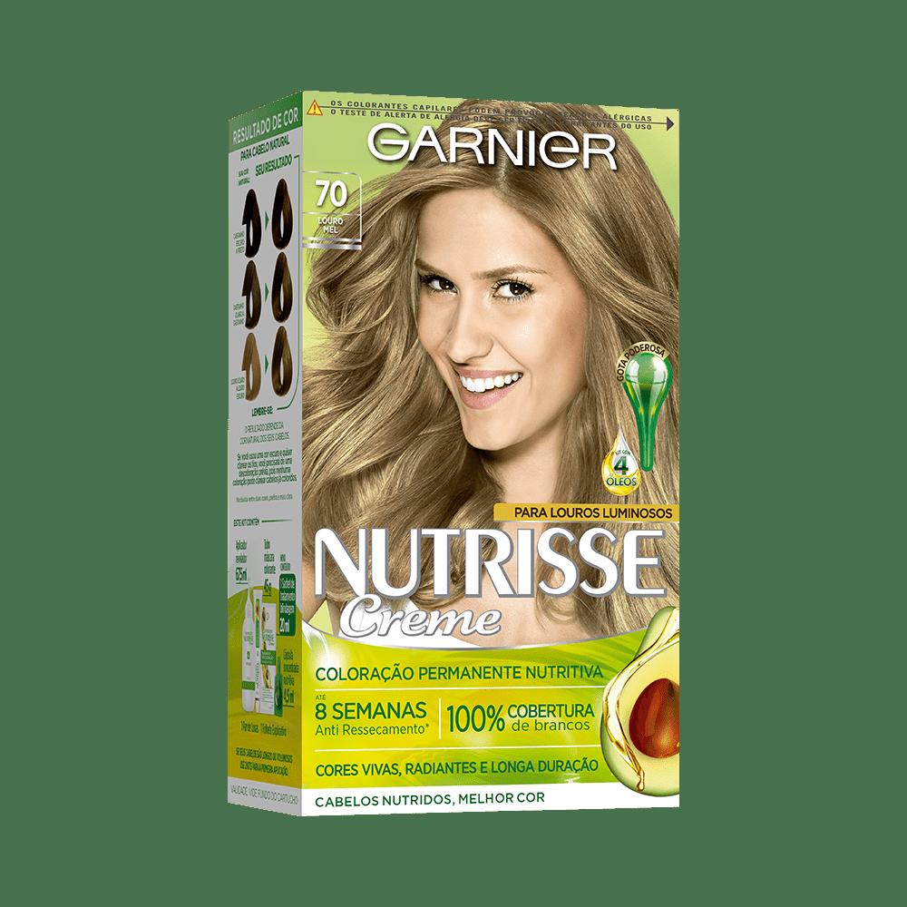 Coloração Permanente 70 Nutrisse Louro Natural Mel