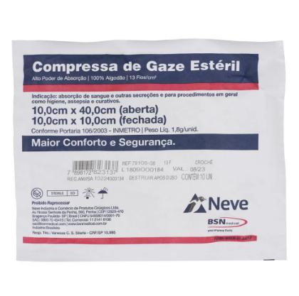 Compressa De Gaze Neve 10 Unidades