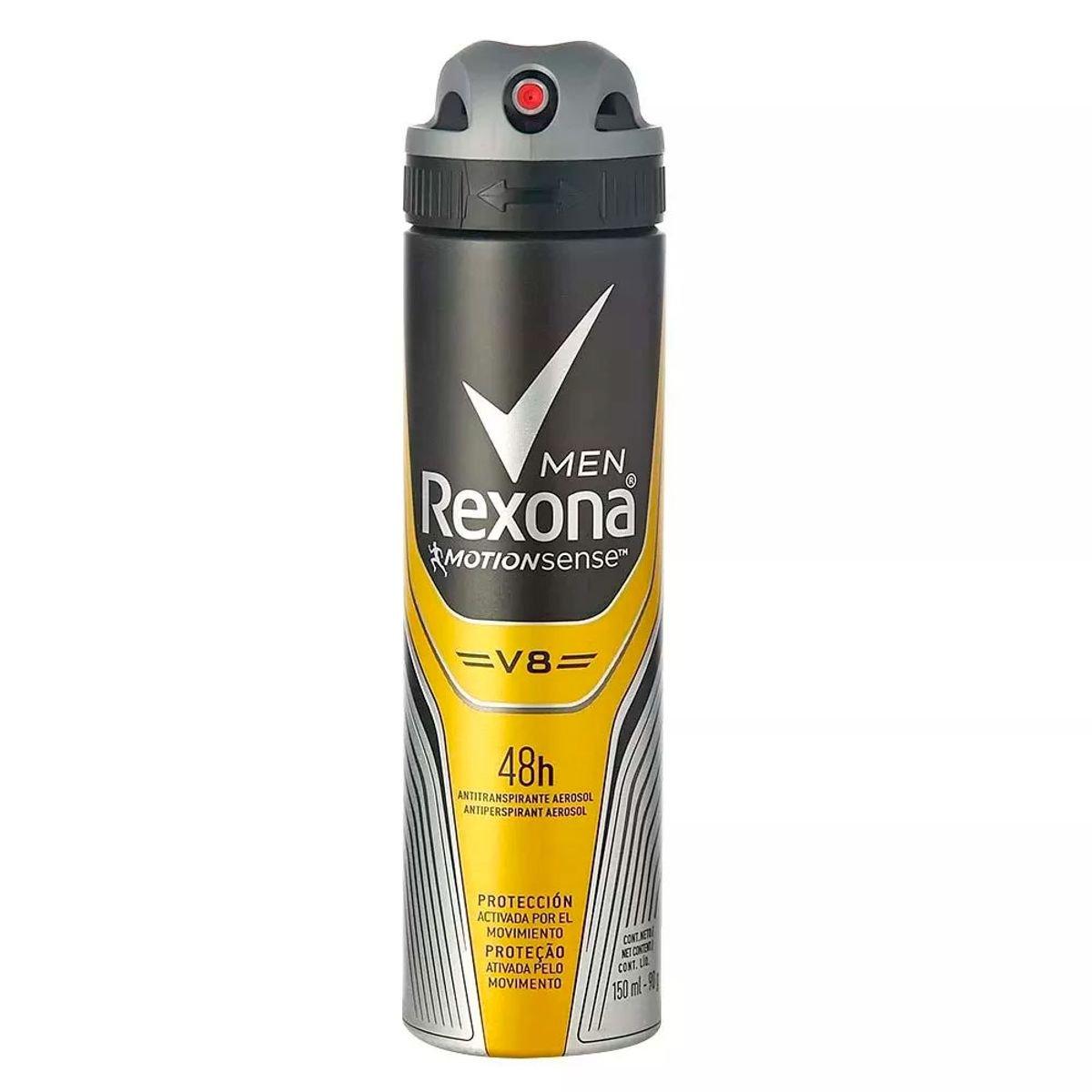 Desodorante Antitranspirante Aerosol V8 Rexona 150ml