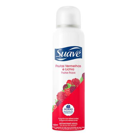 Desodorante Antitranspirante Suave Frutas Vermelhas e Lichia Aerosol 150ml