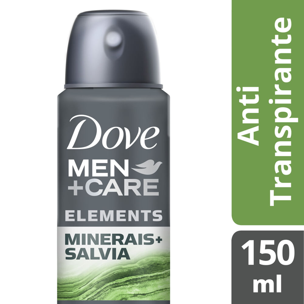 Desodorante Dove Men + Care Aerossol Minerales + Sálvia 150ml