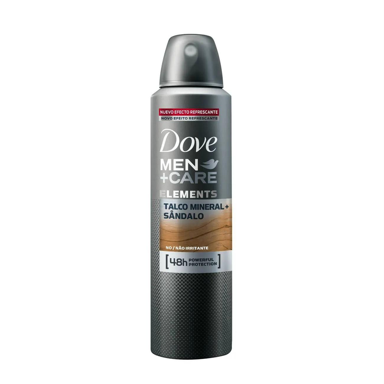 Desodorante Dove Men + Care Talco Mineral e Sândalo 150ml