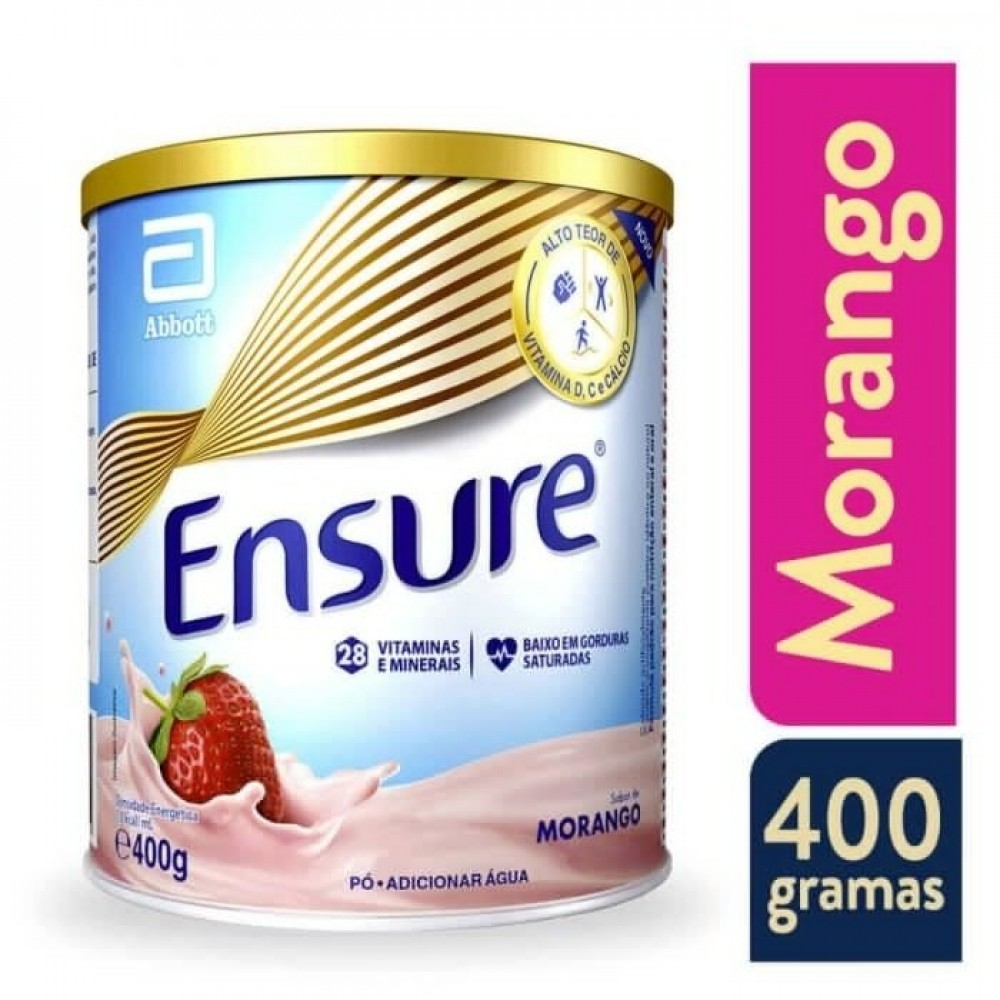 Ensure Morango Abbott Suplemento Nutricional 400g
