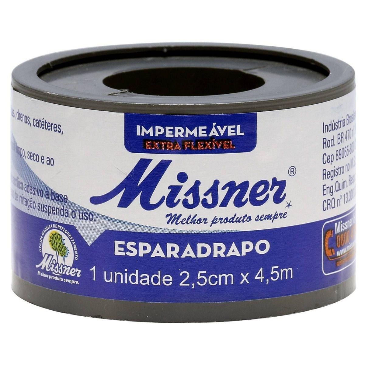 Esparadrapo Impermeavel Missner 2,5CM X 4,5M