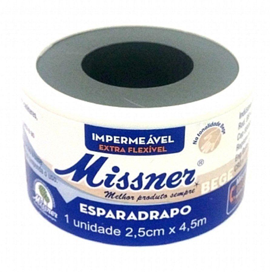 Esparadrapo  Missner 2,5cm x 4,5 Bege