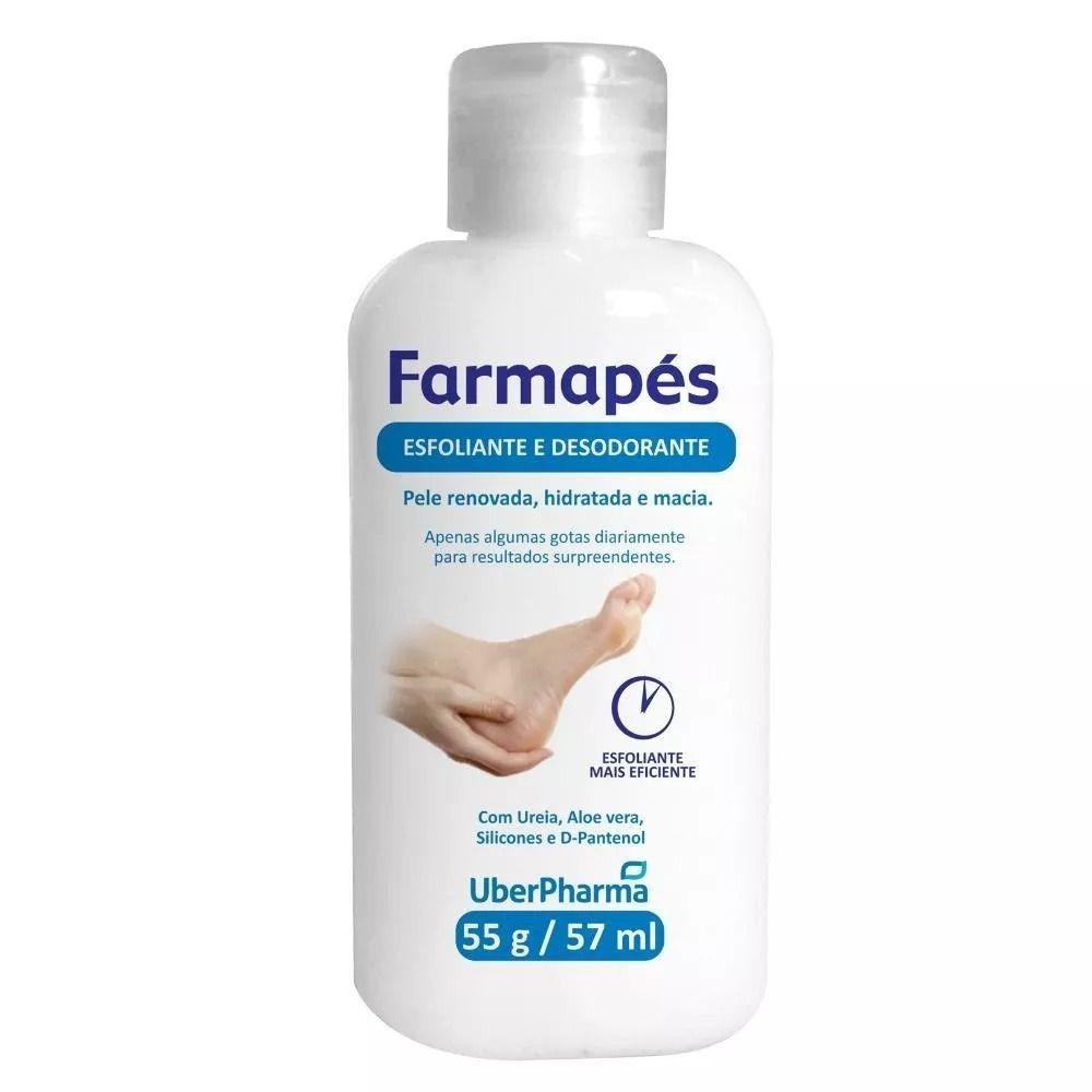 Farmapés Esfoliante E Desodorante Para Os Pés Loção 57ml
