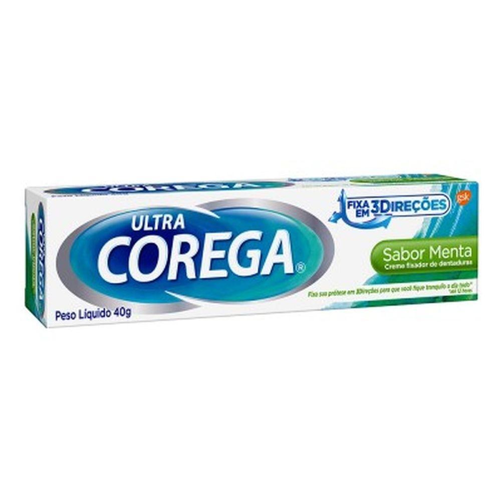 Fixador de Dentadura Ultra Corega Creme Sabor Menta 40g
