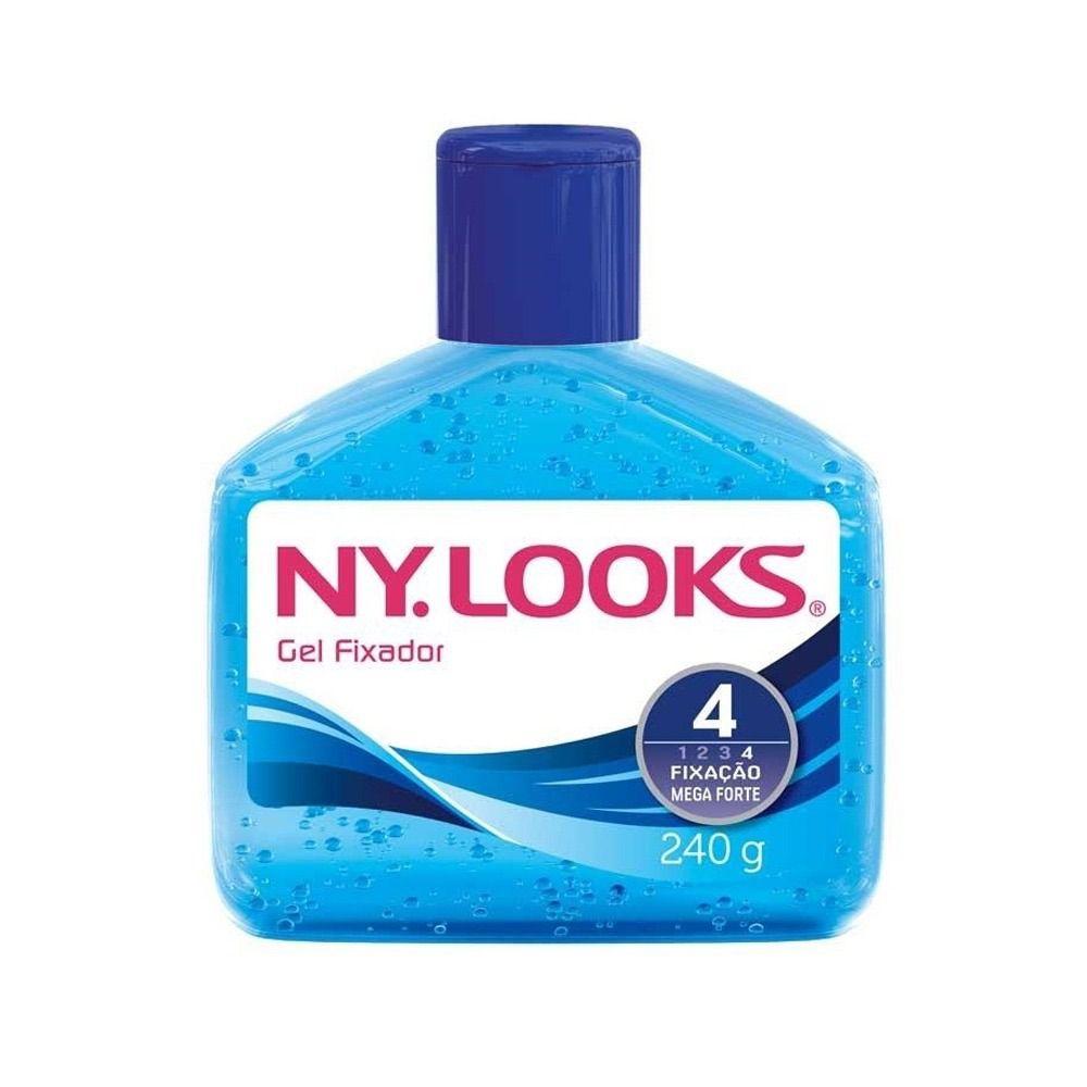 Gel Fixador Ny Looks Azul Mega Fixação 240g