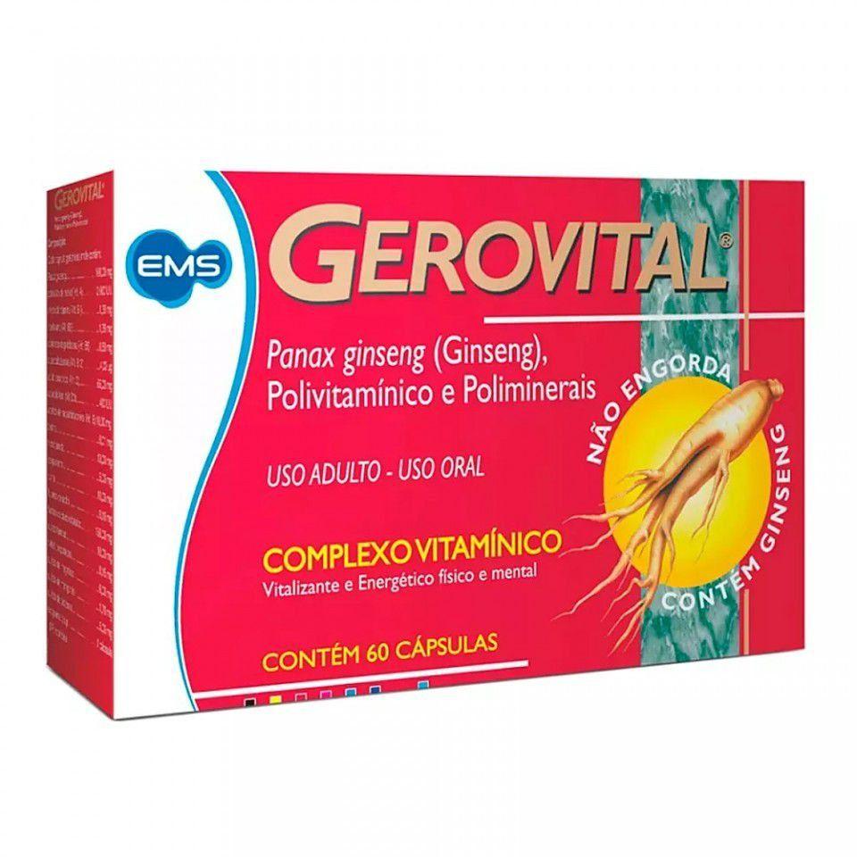 Gerovital 60 Cápsulas Gelatinosas EMS
