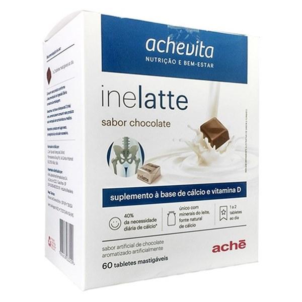 Inelatte Zero Açúcar Sabor Chocolate 60 Tabletes Ache