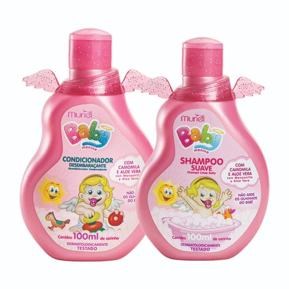 Kit Baby Muriel Menina Shampoo e Condicionador 100ml