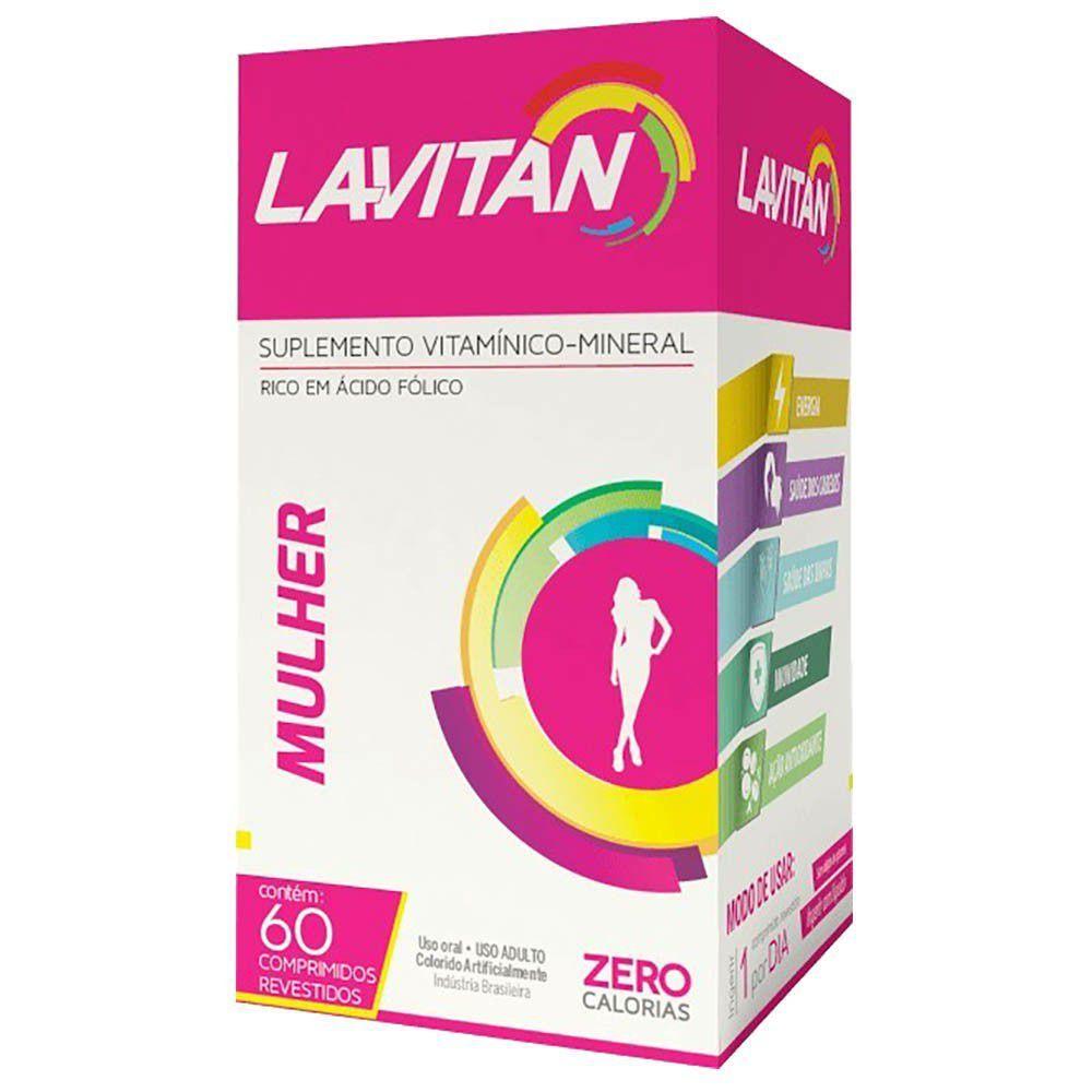 Lavitan Mulher Suplemento Vitamínico Mineral 60 Comprimidos