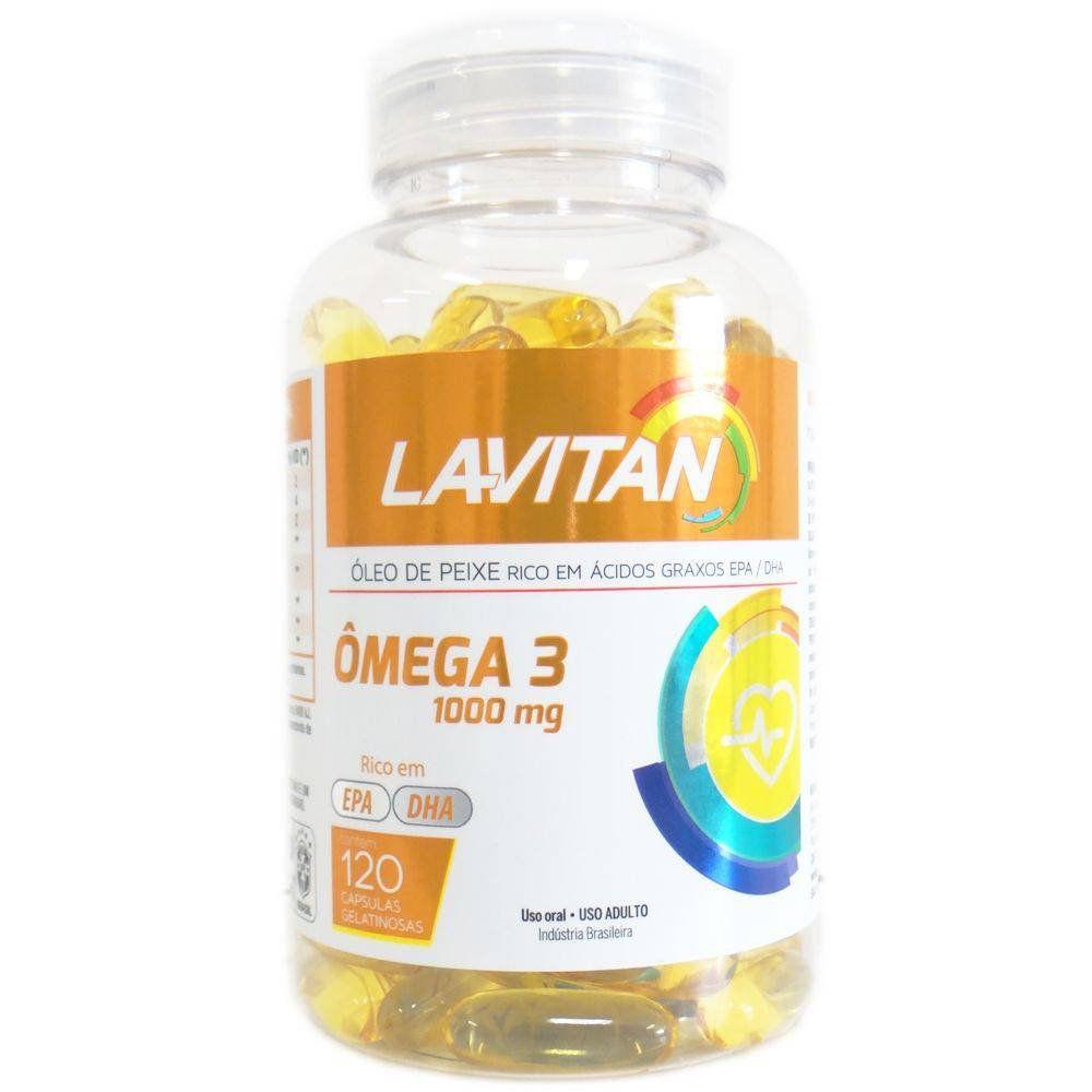 Lavitan Ômega 3 120 Cápsulas Gelatinosas