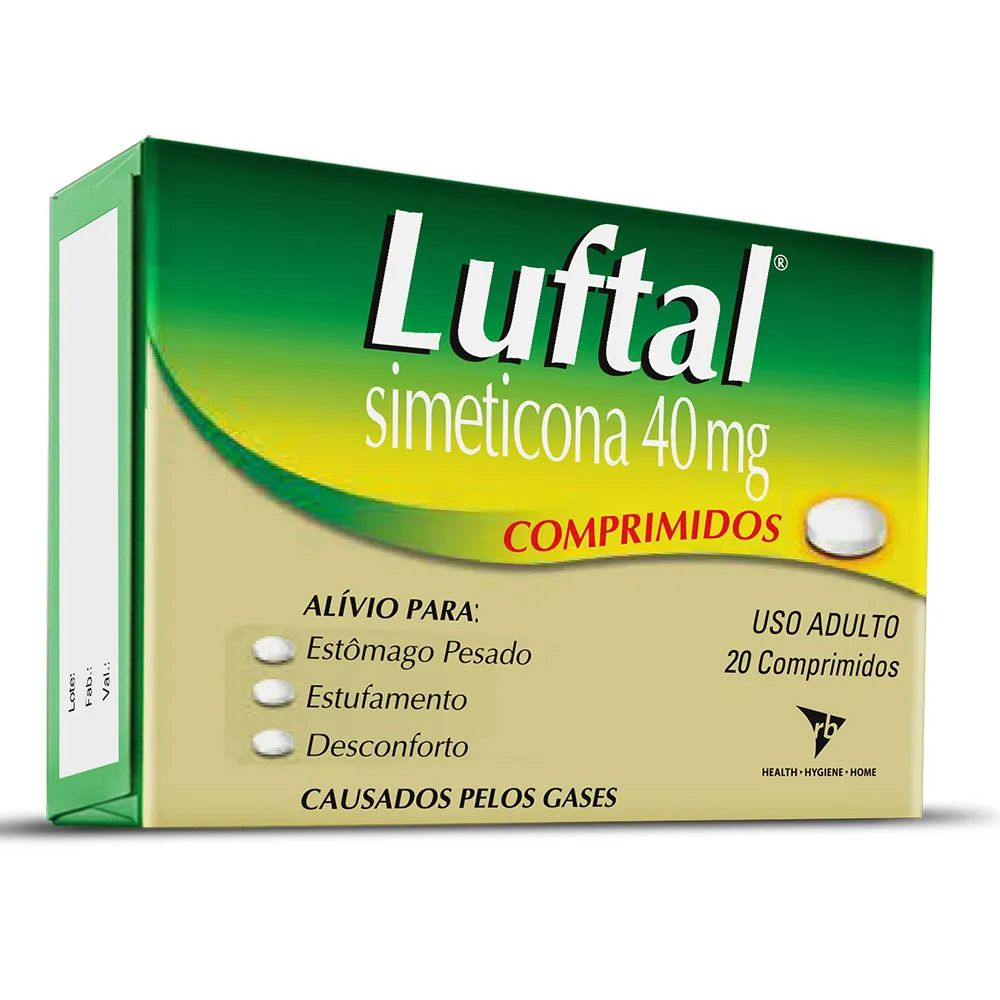 Luftal 40mg 20 Comprimidos
