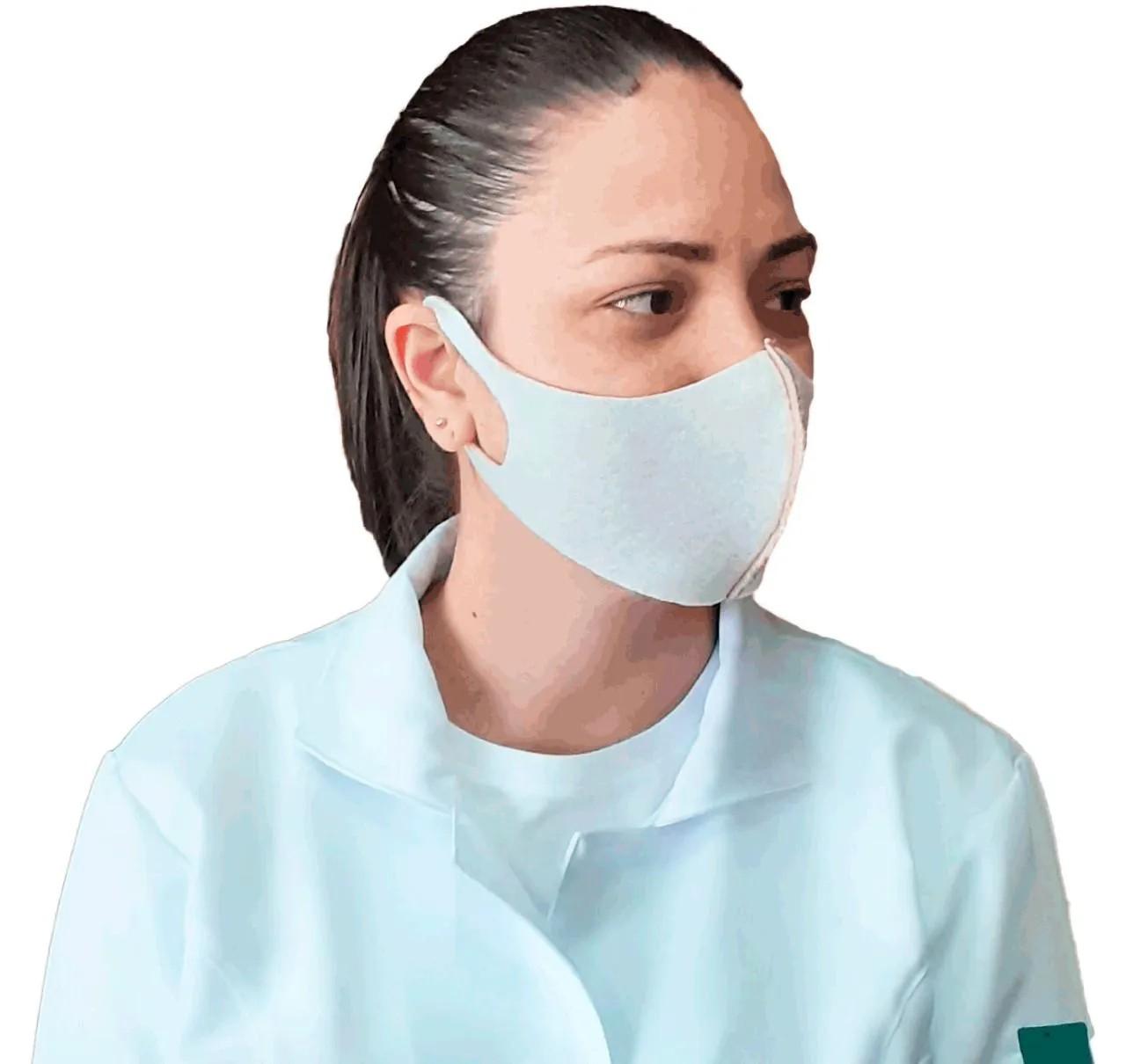Mascara para Proteção Cor Branco Telha Tamanho G com 1 unidade