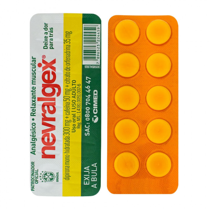 Nevralgex Cimed 10 Comprimidos