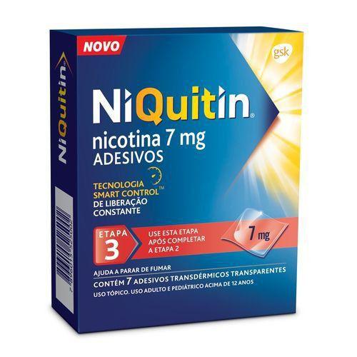 Niquitin 7mg GSK 7 Adesivos Transparentes