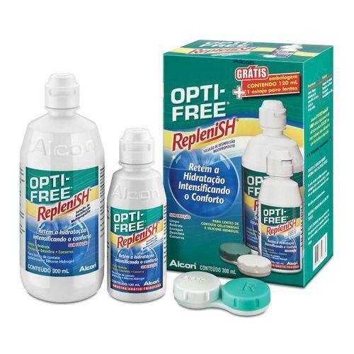 Opti-free Replenish Solução 300ml + 120ml