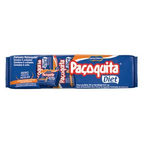 Paçoquita Santa Helena Diet Formato Retangular 22g