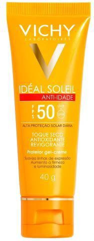 Protetor Solar Facial Idéal Soleil Anti-idade Toque Seco FPS50 40g