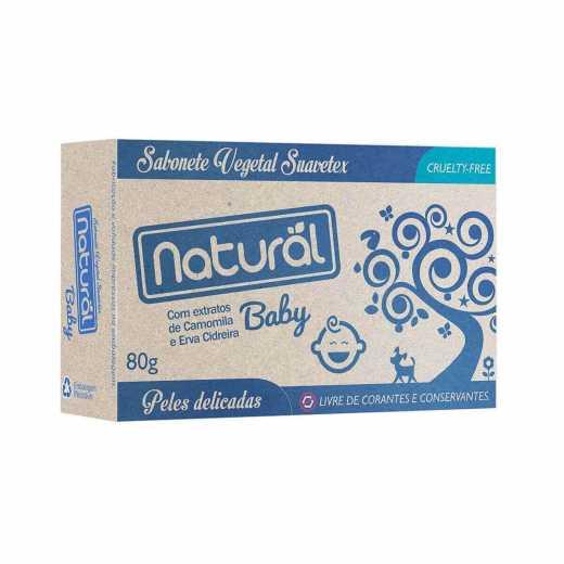 Sabonete Natural Baby Camomila e Erva Cidreira 80g Suavetex