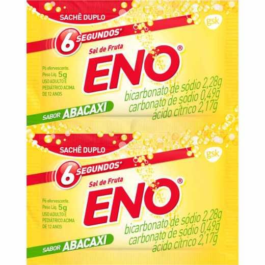 Sal de Fruta Eno Sabor Abacaxi 2 Envelopes 5g Cada