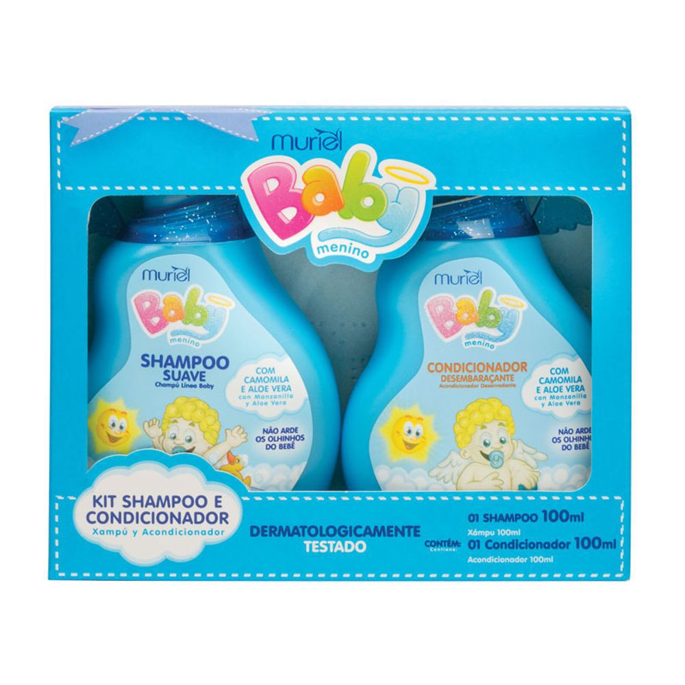 Shampoo + Condicionador Baby Kit Menino 100ml Muriel