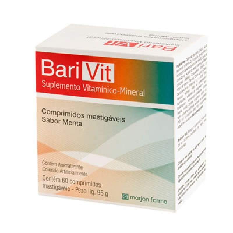 Suplemento Vitamínico-Mineral Barivit Marjan 60 Comprimidos