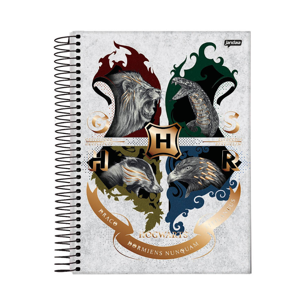 CADERNO UNIVERSITÁRIO CAPA DURA 240 FOLHAS HARRY POTTER - ESTAMPAS DIVERSAS
