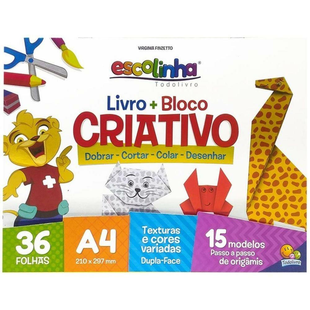 ESCOLINHA - LIVRO + BLOCO CRIATIVO (ORIGAMI)