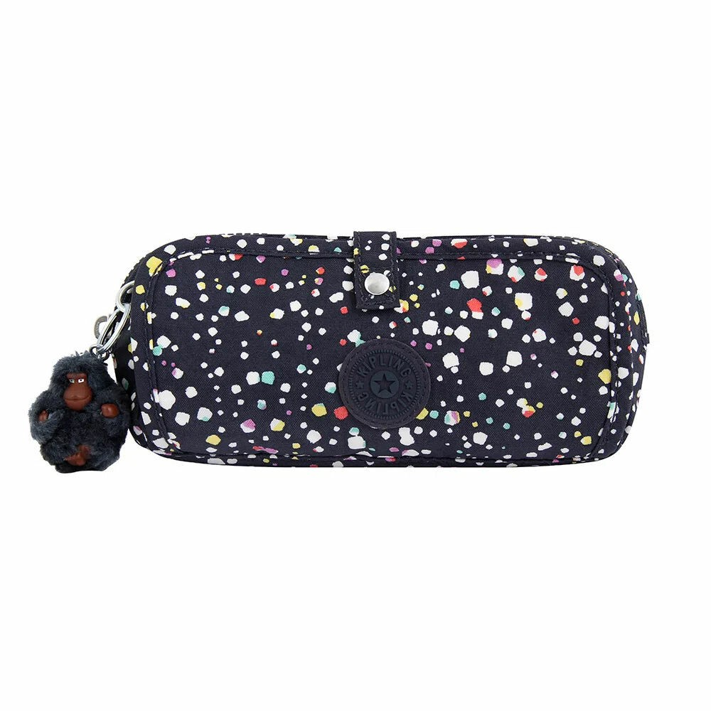 ESTOJO KIPLING WOLFE HAPPY DOT AZUL