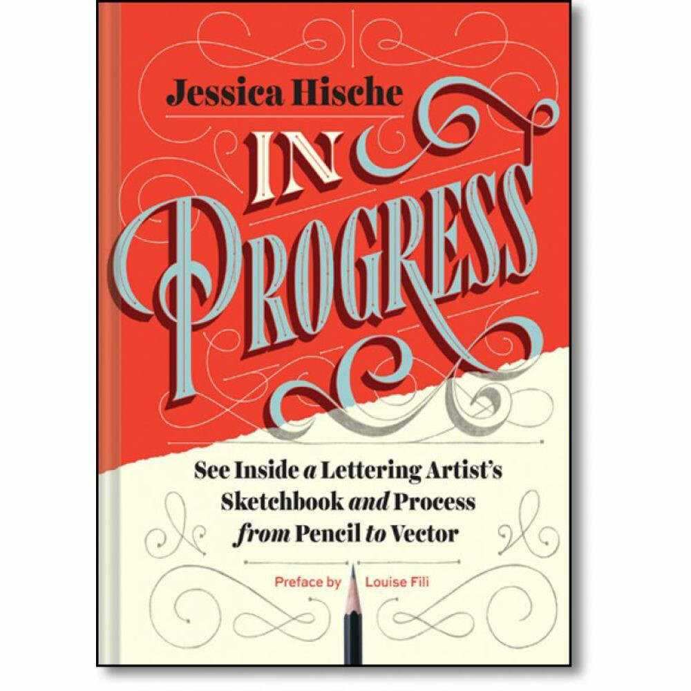 IN PROGRESS - SEE INSIDE A LETTERING ARTIST'S SKETCHBOOK AND PROCESS, FROM PENCIL TO VECTOR