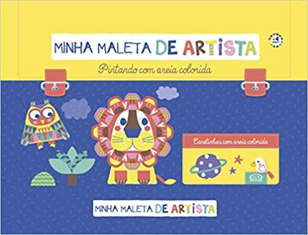 MINHA MALETA DE ARTISTA - PINTANDO COM AREIAS COLORIDAS