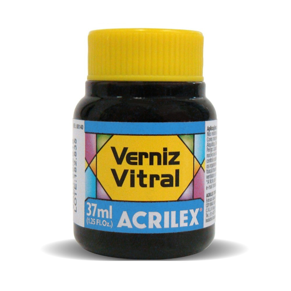 VERNIZ VITRAL 37ML - AZUL TURQUESA