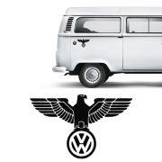 Adesivo Águia Volkswagen Fusca Kombi Emblema Preto