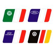 Adesivo Bandeira País Alemanha, Itália, França Ford Fiat Vw