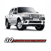 Adesivo Ford Ranger 2010/2012 Emblema 3.0 Powerstroke Preto