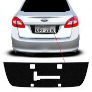 Adesivo Fundo De Placa New Fiesta Sedan 2011/2014 Porta-Malas